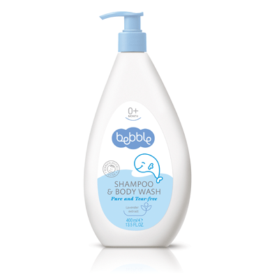 Bebble貝朵 新生兒植萃洗髮/沐浴露(二合一) 400ml