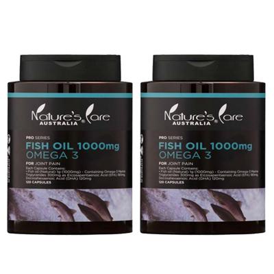 丰纳康 深海鱼油Omega-3胶囊(120颗)二入组