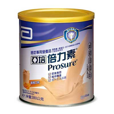 亞培 倍力素粉狀配方(香橙口味) 380g