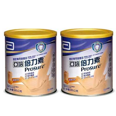 亞培 倍力素粉狀配方(香橙口味) 380g 2入