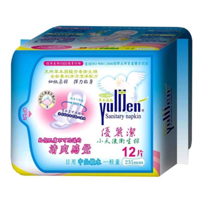優麗潔 天然草本衛生棉-日用12片 235mm (30包/組)