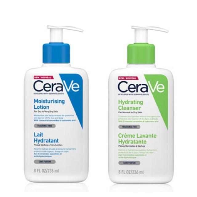 CeraVe絲若膚 清爽保濕洗護組