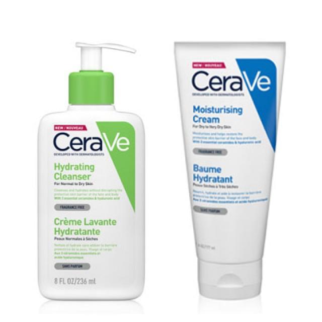 CeraVe適樂膚 長效潤澤洗護組