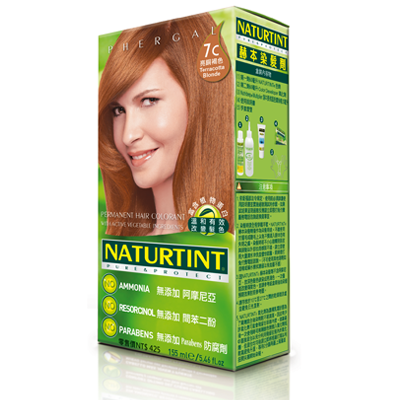NATURTINT 赫本染髮劑-7C金赤土色 (短效出清,效期至2021/10)