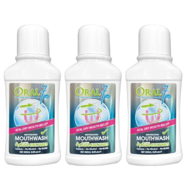Oral7口立淨 酵素護理漱口水 250ml 3入組