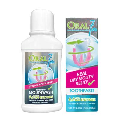 Oral7口立淨 酵素護理牙膏+漱口水250ml