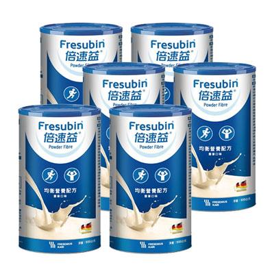 倍速益 含纖均衡營養配方 粉狀-香草口味 500g 六入組 (效期:2021/09)