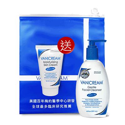 Vanicream薇霓肌本 胺基酸保濕乳霜潔面乳 (贈 隨機旅行罐57g*1)