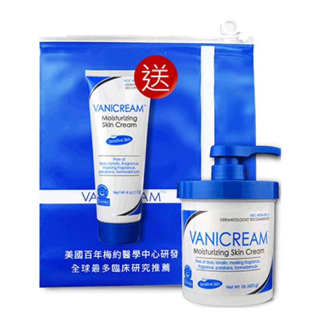 Vanicream薇霓肌本 全日高效修護保濕乳霜 大+小