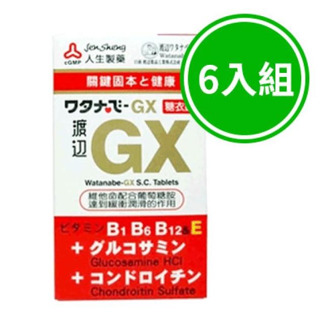 人生製藥 渡邊GX糖衣錠 六入組
