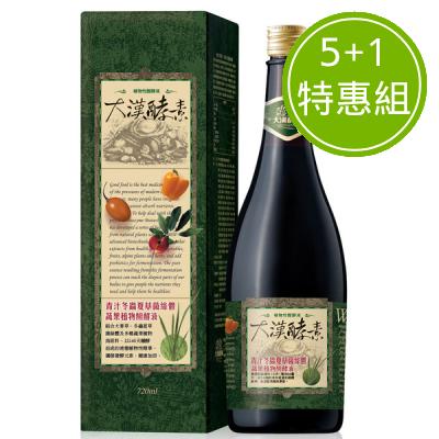 大漢酵素 青汁冬蟲夏草菌絲體蔬果植物醱酵液 5+1特惠組