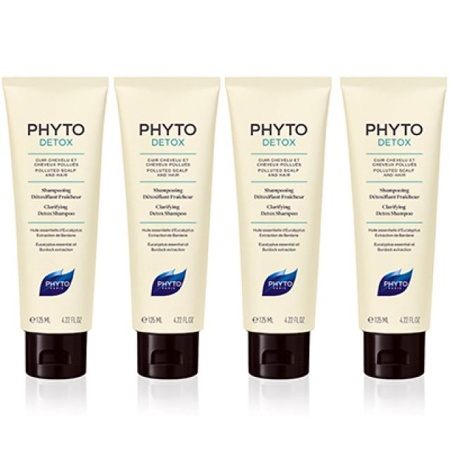 PHYTO髮朵 頭皮淨化能量洗髮精 4入特惠組