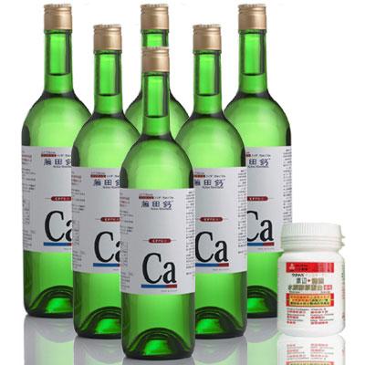 AA鈣杏懋 藤田鈣液劑買4送2(加送渡邊膠原蛋白)