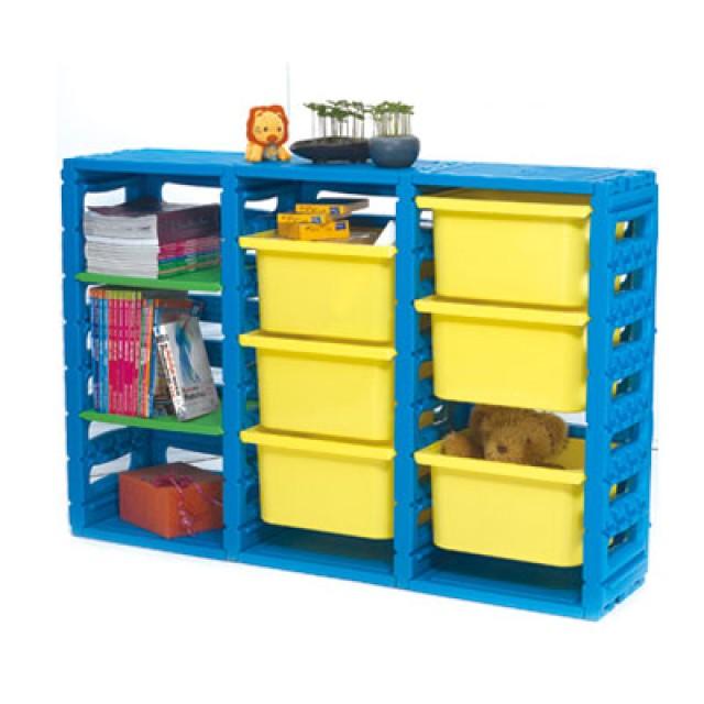 親親玩具 三排組合櫃(大抽屜)(全面75折)