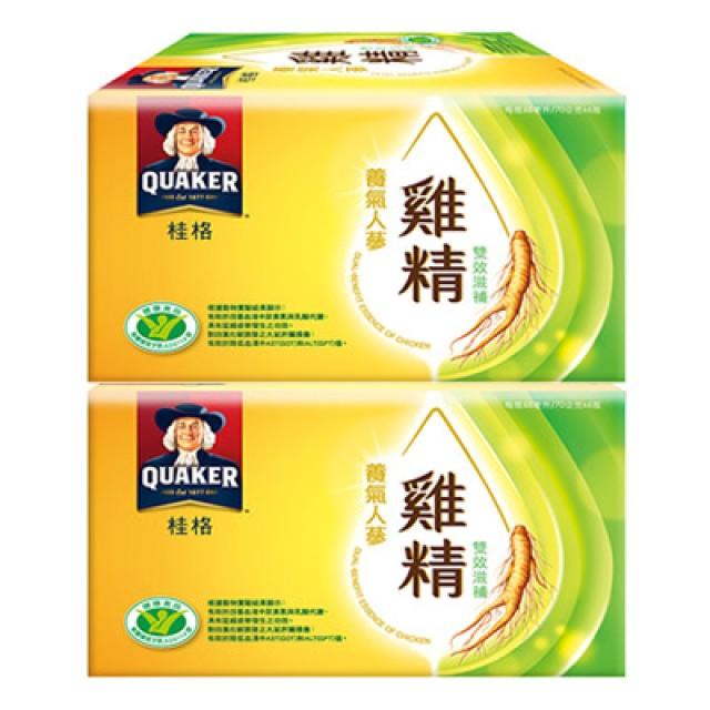 桂格 養氣人蔘雞精雙效滋補加碼送2瓶(8瓶/盒)兩盒組