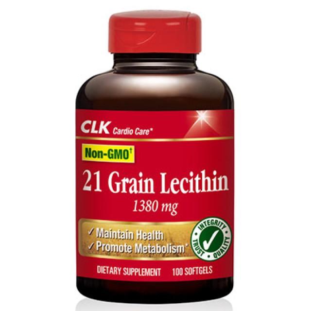 CLK健生生技 卵磷脂1380毫克(非基因改造黃豆)