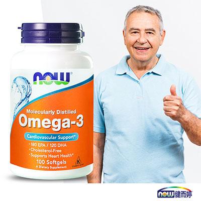 NOW健而婷 极品深海鱼油胶囊食品(100颗/瓶)(原名:Omega-3亚米茄深海鱼油)