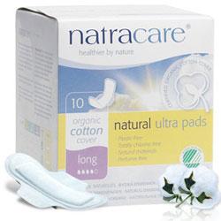 natracare綠可兒 有機衛生棉(超薄碟翼/加長夜用) 12盒/箱(加贈衛生棉3片和寶寶濕巾1包)
