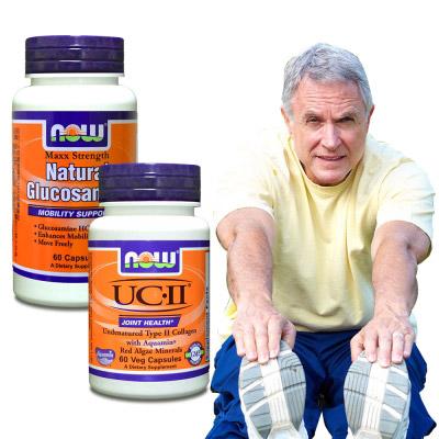 NOW健而婷 活力健步套組-UCII二型膠原蛋白 葡萄糖胺(2瓶組)